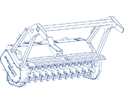 Hydraulisch angetriebene Mulchgeräte
